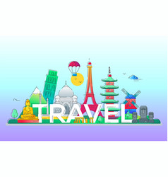 travel - line vector image
