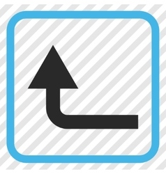 Turn Forward Icon In a Frame vector