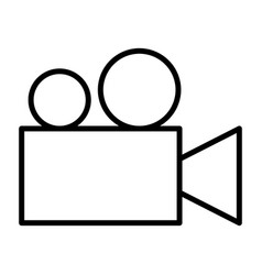 video camera thin line icon cinema pictogram vector image