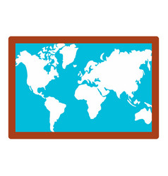 wall world map icon flat style vector image