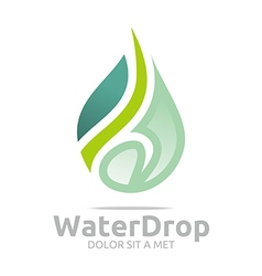 water drop pure symbol icon business design vector image