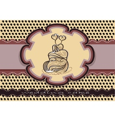 Wedding cake background vector