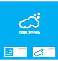 White cloud logo vector image