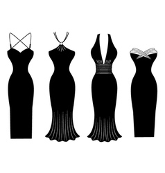 Woman Dress Silhouette vector image