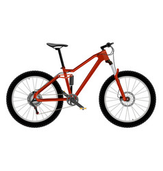 bike isolated on white vector image