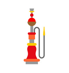 hookah isolated device for smoking on white vector image
