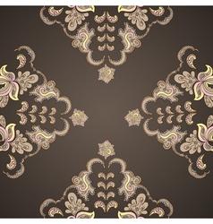 Ornamental round vintage pattern vector image