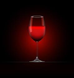 Wine Glass 4 vector image