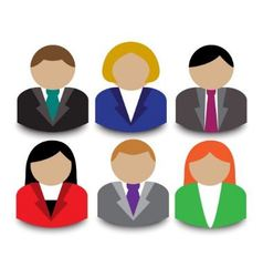 Business people avatars vector image vector image