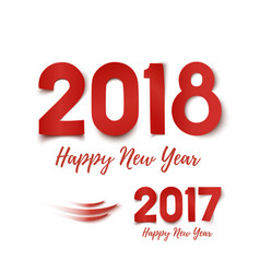 happy new year 2017- 2018 greeting card template vector image vector image