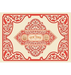 Vintage label organized by layers vector image vector image