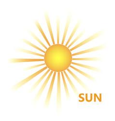 yellow sun burst icon vector image