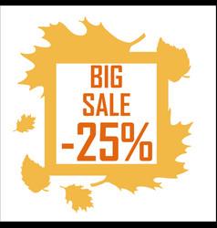 a big autumn sale of twenty five percent vector image