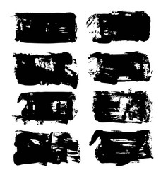 abstract big black long textured brush strokes vector image vector image