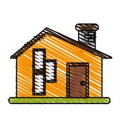 facade house city vector image