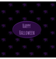 Happy Halloween on a dark background with spiders vector image vector image
