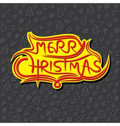 merry Christmas greeting background design vector image vector image
