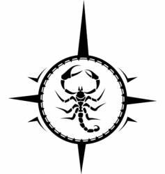 scorpion tattoo vector image vector image