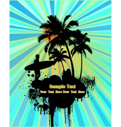 surfing poster vector image vector image