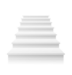 white staircase 3d realistic vector image