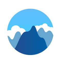 blue mountains in clean weather vector image vector image