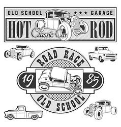 hot rod set vector image vector image