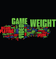 loss story success teen weight text background vector image