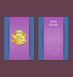 100 quality best choice exclusive standard label vector image