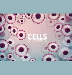 abstract cell background human biology science vector image