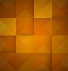 Abstract mosaic orange background vector image