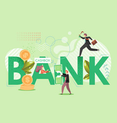 bank services flat style design vector image