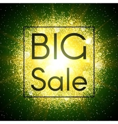 Big sale banner Abstract explosion with glitter vector