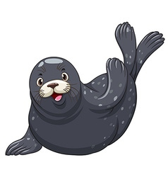 Black seal with happy face vector