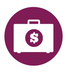 Briefcase with money icon vector