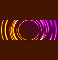 bright glowing neon circles abstract background vector image