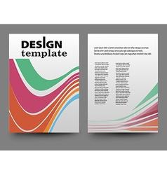Business brochure flyer vector image