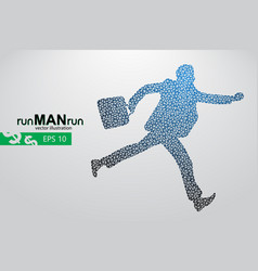 business man silhouette from triangles vector image