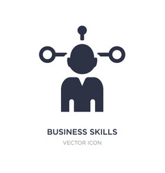 Business skills icon on white background simple vector
