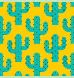 Cactus desert pattern background seamles vector