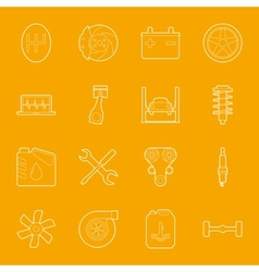Car service thin lines icons set vector image