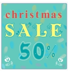 Christmas sale floral font vintage retail card vector