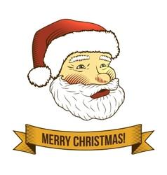 Christmas santa claus icon vector image