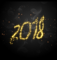 creative 2018 glitter text for happy new year vector image