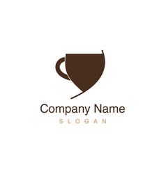 cup coffee logotype vector image