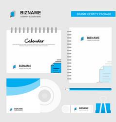 document setting logo calendar template cd cover vector image