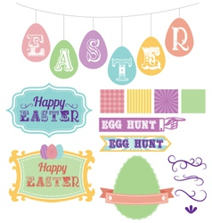 Easter elements carnival pack vector image