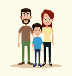 father mother and son family vector image