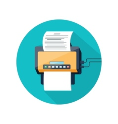 Fax icon with paper page vector