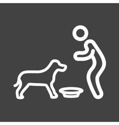 Feeding Pet vector image