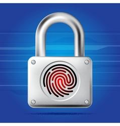 Finger print lock vector image